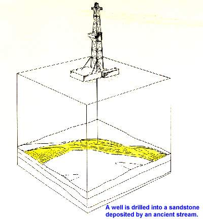 Well Drilled Into Ancient Stream Stratigraphic Trap